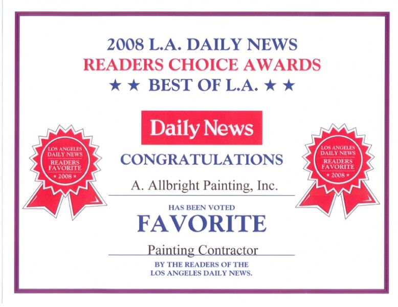 L.A. Daily News Readers Choice Award for Allbright