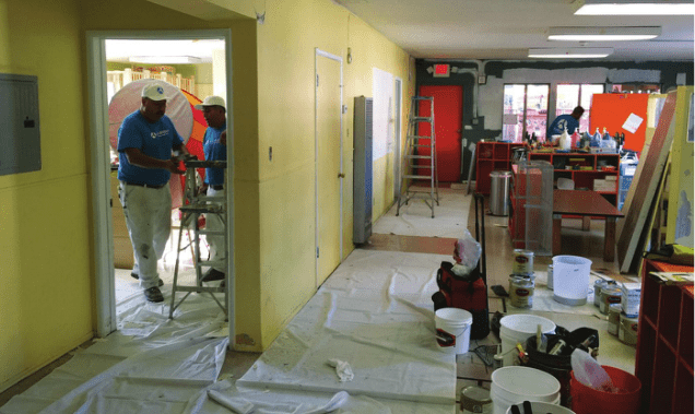 Allbright Painters painting Village Tree Preschool