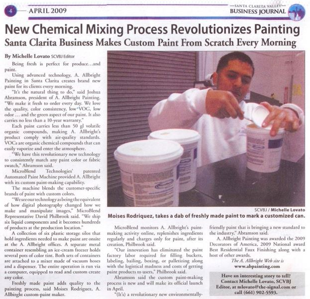 newsletter article in SVC's business journal