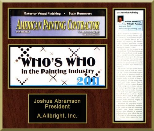 who's who in the painting industry award