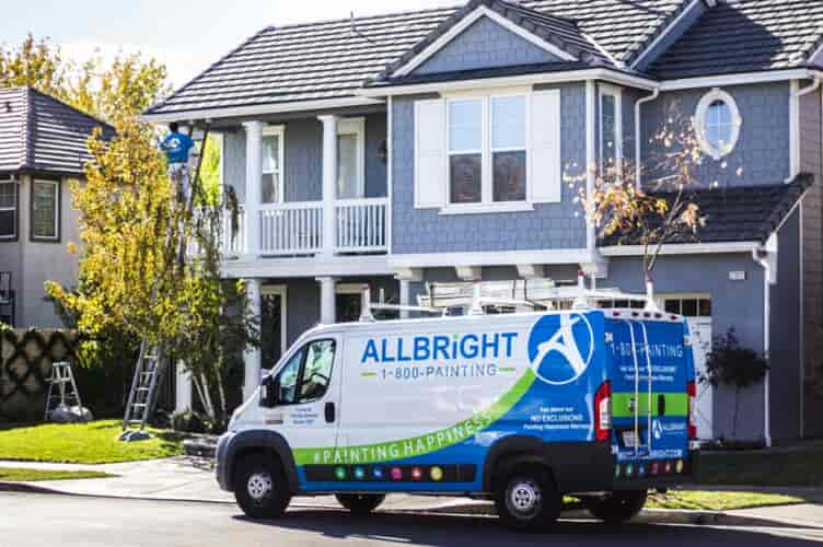 ALLBRiGHT Truck Outside Home